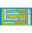 Tennessee state cities list vector image vector image
