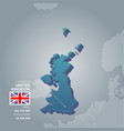 united kingdom information map vector image vector image