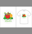 vegan graphics design for t-shirt vector image