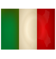 Vintage italy Flag vector image