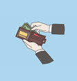 wallet with money businessman concept vector image vector image