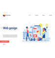 web designers discuss structure new site flat vector image vector image