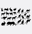 wild animal silhouette vector image vector image