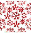 winter snowflake red low poly seamless pattern vector image vector image