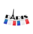 word Paris with bunting vector image vector image