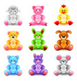 soft toys icons set vector image