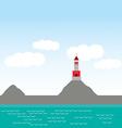 lighthouse island ocean beach sea nautical vector image