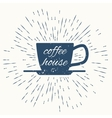 coffee house hipster vintage label vector image