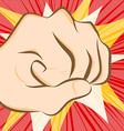 fist hit vector image