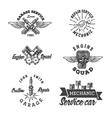 Set of vintage auto service labels vector image