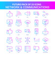 25 blue and pink futuro network and communication vector image