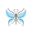 abstract butterfly logo template simple vector image