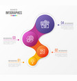 abstract infographic design 4 steps vector image