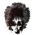 Afro hair retro face vector | Price: 1 Credit (USD $1)