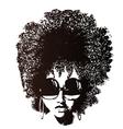 afro hair retro face
