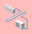 air conditioner isometric vector image vector image