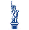 american liberty statue vector image