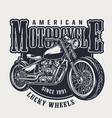 american motorcycle vintage emblem vector image vector image