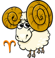 aries or the ram zodiac sign vector image