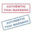 authentic thai massage textile stamps vector image