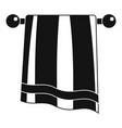bathroom towel icon simple style vector image vector image