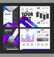 brochure template vector image
