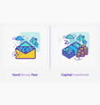 business and finance concept icons send money vector image vector image