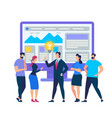 business training for employees in office coach vector image vector image