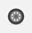 car wheel with tyre modern icon or logo vector image vector image