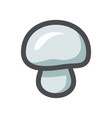 champignon cute mushroom icon cartoon vector image