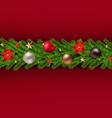 christmas garland poster vector image vector image