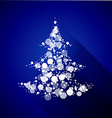 Christmas tree made of light particles Flat design vector image vector image
