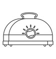 classic toaster icon outline style vector image vector image