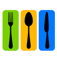 colorful cutlery icon vector image