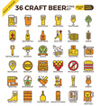 Craft Beer icons vector image vector image