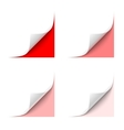 Curled Corner vector image vector image