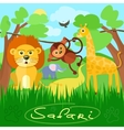 Cute african safari animals