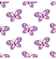 cute butterfly seamless pattern vector image