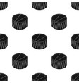 drum icon in black style isolated on white vector image
