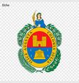 emblem of elche city of spain vector image vector image