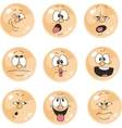 Emotion smiles orange color set 010 vector image vector image