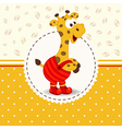 giraffe in pants vector image