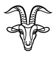 goat head line icon vector image vector image