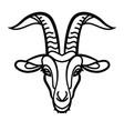 goat head line icon vector image