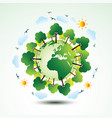 green eco earth vector image vector image