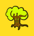 halloween scary trees vector image
