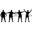 Hoop fitness vector image vector image
