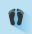 human organ feet icon with shade on blue vector image vector image