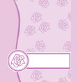 label rose texture vector image