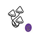 magic psilocybe mushrooms logo vector image vector image